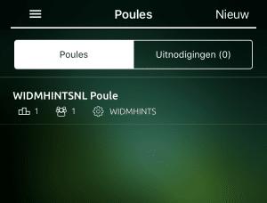 Wie is de Mol? App - Poule