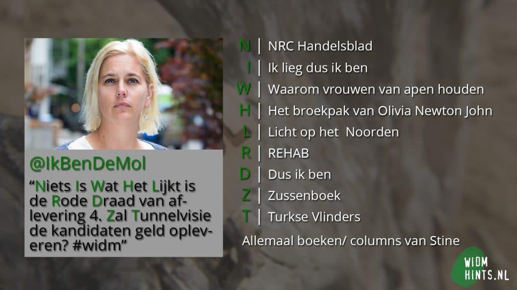 Aflevering 4 | Hint - Tweet van de Mol